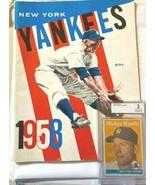New York Yankees 1958 American League Program/ORIGINAL 1958 GRADED  MANT... - $386.10