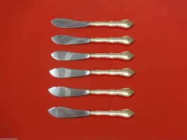 """Rose Tiara by Gorham Sterling Silver Trout Knife Set 6pc. Custom Made 7 1/2"""" - $366.80"""