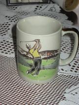 Otagiri-Ceramic-Coffee Mug-Golf Theme-8 oz-Hand Painted-Japan - $10.00
