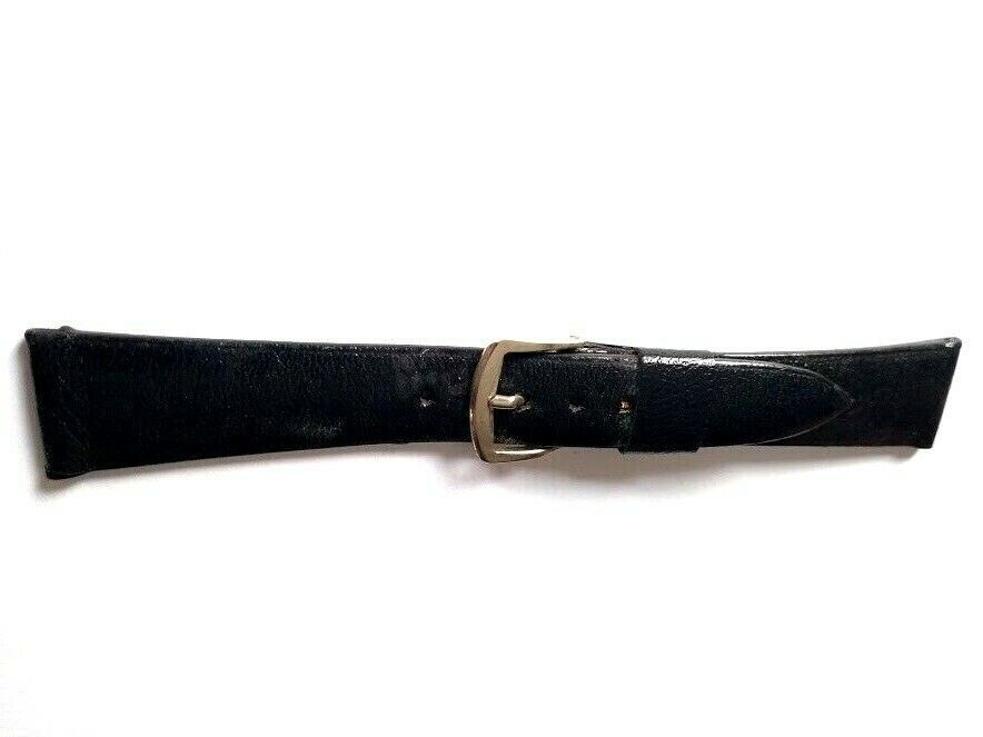 "Primary image for NOS Vintage T&C Town Country Kangaroo Watch Strap Band 11/16"" Black 17.5mm S"