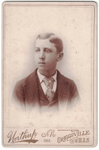 Cabinet Photo of Attractive Teen Boy - Griggsville, ILL Late 1800s - $8.60