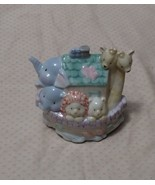 NOAH'S ARK NIGHT LIGHT PLUG-IN ENSCO 1997 PORCELAIN GLAZED ELEPHANTS GIR... - $6.99