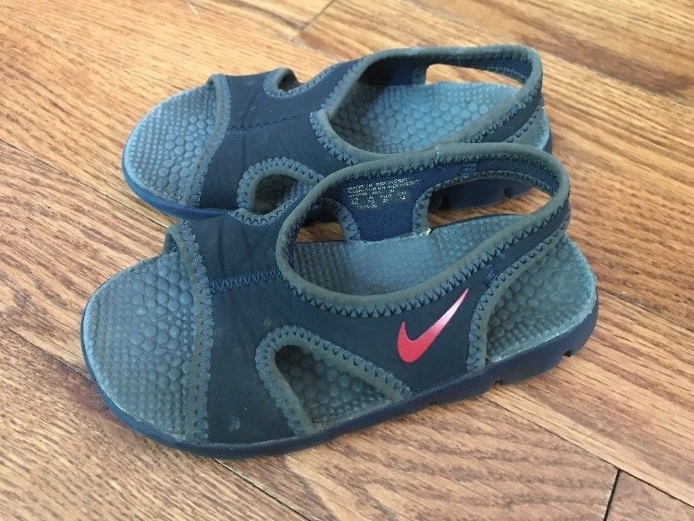 a04bcd6ad93b Nike Kids Black Sandals With Red Swoosh and 50 similar items