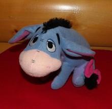 "Winnie Pooh Fisher-Price 9"" Plush Sitting Eeyore Baby Safe Rattler Brings Smiles - $6.29"
