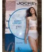Jockey Elance ~ 3-Pair Women's Brief Underwear Panties 100% Cotton (B) ~... - $21.49