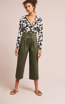 New Anthropologie Corseted Wide-Leg Pants by Cartonnier GREEN $178 X-Small - $55.44
