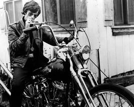 Peter Fonda 11x14 Photo classic Easy Rider sitting on bike smoking cigarette - $14.99