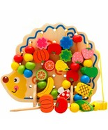 Toys Educational Wooden Learning Exercise Hands-on Ability Hedgehog Frui... - $26.60