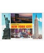 New York Postcard New York City Statue of Liberty Broadway Times Square ... - $3.60