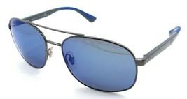 Ray-Ban Sunglasses RB 3593 004/55 58-17-140 Gunmetal - Grey / Blue Mirror - $118.19