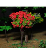 Tree red flowers (tall is 2.5 inches) for building diorama 1:35 Pro Buil... - $5.45
