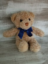 """Adorable BRAUN Thermoscan Gund Plush Golden Shaggy Curly Bear 9"""" with Bl... - $10.23"""