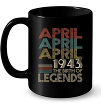 APRIL Retro Classic Vintage 1943 Awesome 75 Years Old Being Gift Coffee Mug - $13.99+