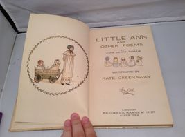 Signed Antique Little Ann A Book Illustrated by Kate Greenaway image 3