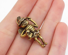 925 Sterling Silver - Vintage Sculpted Bumble Bee Person Brooch Pin - BP... - $27.23