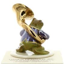 Hagen-Renaker Miniature Ceramic Frog Figurine Toadally Brass Band Tuba Player image 2