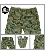New Levis Ace Cargo Pants Green Camouflage Relaxed Fit  100% Cotton MANY... - $40.00