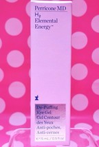 PERRICONE MD H2 ELEMENTAL ENERGY DE PUFFING EYE GEL .5 OZ FULL SIZE AUTH... - $65.26