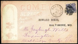 Comet Burners All Over Advertising Cover With 1869 Issue #114 - Stuart Katz - $95.00