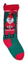 "Merry Christmas Stocking 21"" Red Knit Xmas Holiday Mantle Decor 4.5"" W S... - $11.75"