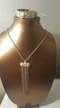 SILPADA BRASS AND WHITE HOWLITE NECKLACE LONG S... - $24.74