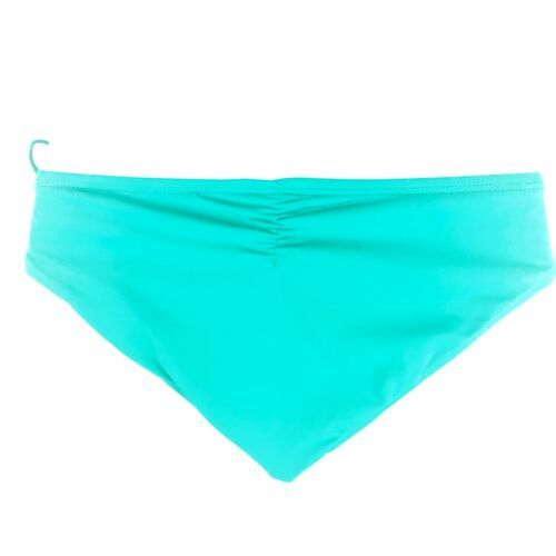 L Space Ella Side Tie Back Ruched Bikini Bottoms Hipster Womens Blue Green XS image 5