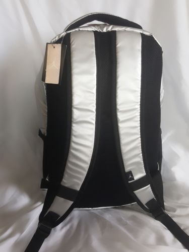 57d861eb1bd81f NIKE Air Jordan Jumpman Backpack School Bag Metallic Silver Black Elephant  Print