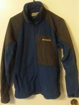 Columbia Vertex Men Core Interchange Fleece Zip Blue/Dark Gray Jacket Si... - $19.80
