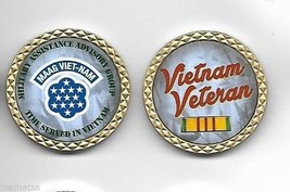 """Army Vietnam Maag Ribbon Time Served Military 1.75"""" Challenge Coin - $18.04"""