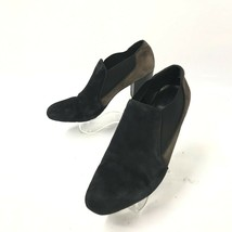 FRANCO SARTO  SZ 9 M 38.5 Black Brown SUEDE PUMPS BOOTIES HEELS  (sh131) - $27.76