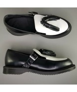 Dr Doc Martens Gracia Tassel Loafers Womens Size 8 Dress Shoes Black White - $121.54