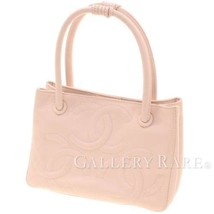 CHANEL Triple COCO Pink Caviar Leather A27117 Italy Handbag Authentic 48... - $723.13