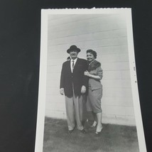Vintage Photo Beautiful Woman With Father - $2.48