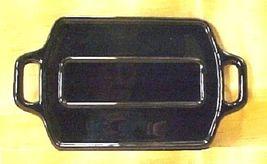 Paden City Ebony Black Glass Handled Display Tray - Silver Trim -1930s V... - $24.99