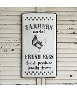 Reproduction FARMERS MARKET METAL SIGN PLAQUE Rustic Farmhouse Vintage R... - $58.99