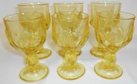 MID CENTURY Set (6) Franciscan CABARET PATTERN Cornsilk Yellow WATER/WIN... - $49.49