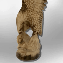 Bone Carved Handmade Full Landing Eagle Full Body No Paint Feather Detailed No W image 3
