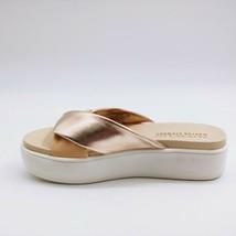 Aerosoles by Martha Stewart Womens Ceramic Platform Slide Sandals Tan Co... - $34.64