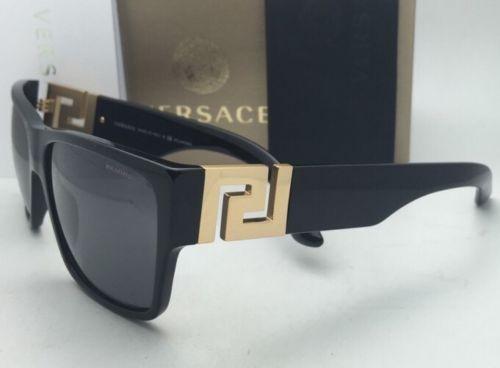 68c81491e5 Polarized VERSACE Sunglasses VE 4296 GB1 81 59-16 Black   Gold Frame w
