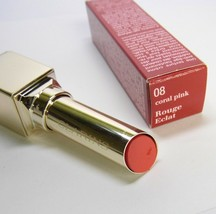 CLARINS Rouge Eclat 08 Coral Pink Age Defying Lipstick (small nick) image 2