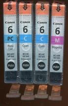 Four Genuine Canon #6 Ink Cartridge M/C/PC - $6.67