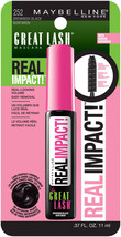 Maybelline New York Great Lash Real Impact Washable Mascara, Brownish Black - $3.99
