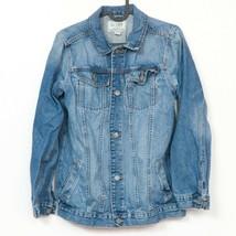 Childrens Place Denim Jacket XL 14 Youth Blue Jean Buttons 100% Cotton C... - $17.68