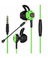 Gaming Earbuds,Headphones with Adjustable Mic Wired in-Ear Headphones E-... - $15.97
