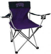NCAA Portable Folding Kickoff Chair Outdoor Cup Holder Patio Metal Carry... - $50.65