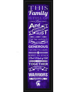 Winona State Warriors 24 x 8 Family Cheer Framed Print - $39.95