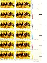 USPS Stamps - Block of 12 1974 10 cent Horse Racing Stamps - $3.25