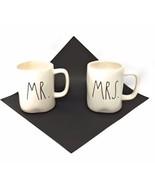 Rae Dunn Mugs Mr And Mrs Mug Set  Brand New Two Mug Bundle Cream And Black - ₨1,536.15 INR