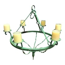 Green Iron Candle Chandelier - $199.00