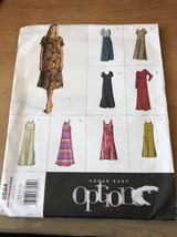 Uncut Vogue Options Pattern 2524 Misses pullover Dress multi variations ... - $14.79